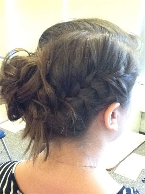 shabby chic braid bun hairstyles pinterest shabby