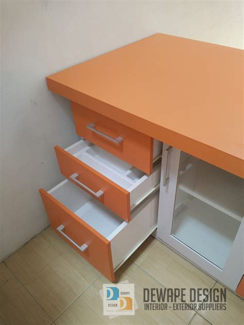 Warna Putih Orange kitchen set warna orange putih malang kitchen set rumah