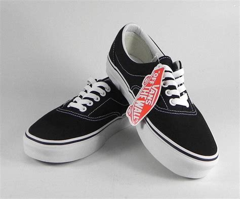 Vans The Wall Kaos 1 vans the wall era black white canvas size shoes classic sneakers skate ebay