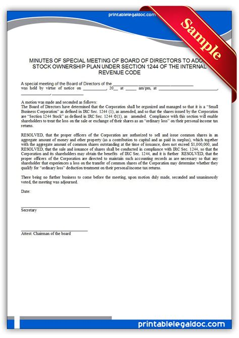 code section 1244 real estate archives sle printable legal forms for
