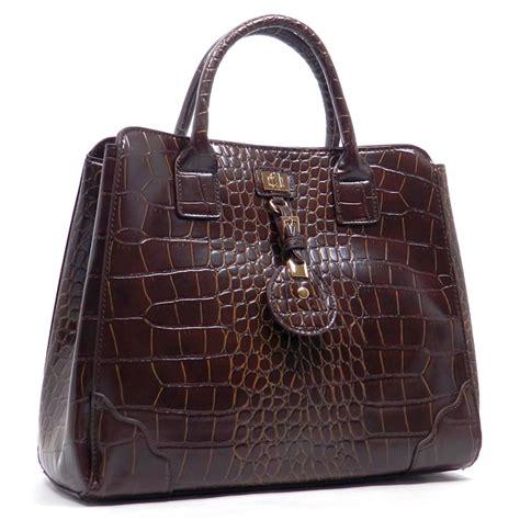 Designer Inspired Handbags At Admj by Designer Inspired Faux Croc Leatherette Satchel Handbag
