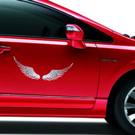 Auto Sticker Metal by 3d Angel Wing Metal Sticker Decal Auto Car Emblem Decal
