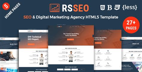 Rsseo Seo And Digital Marketing Agency Responsive Html Template Download Nulled Rip Digital Marketing Responsive Website Template Free