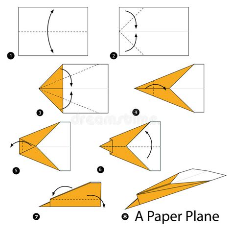 Origami Stunt Plane - step by step how to make origami a paper