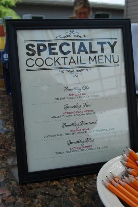 cocktail menu ideas speciality cocktail menu something something new
