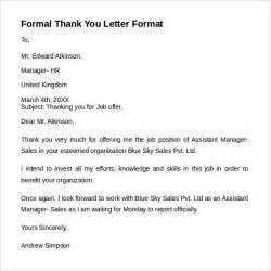 formal letter format 9 free sles exles formats