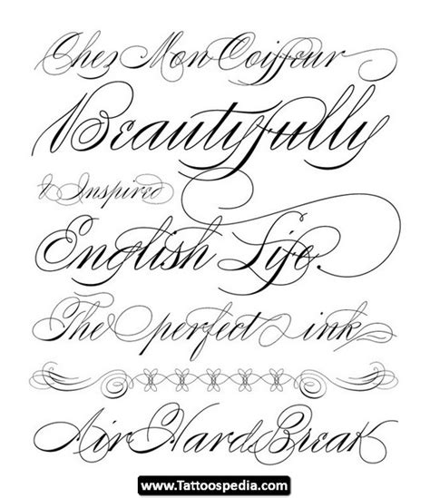 tattoos designs names cursive cursive fonts 07