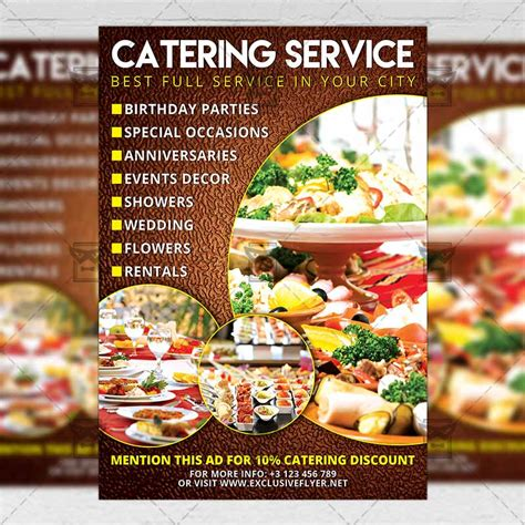 Catering Food A5 Flyer Template Exclsiveflyer Free And Premium Psd Templates Catering Flyers Templates Free