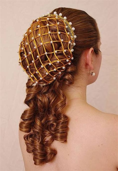 wedding hair using nets medieval hairstyle source info needed medival fashion