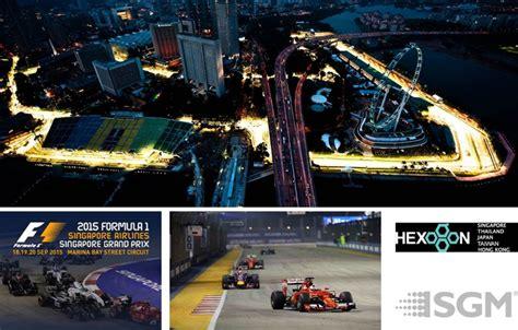 sgm light for singapore skyline at formula 1 racing