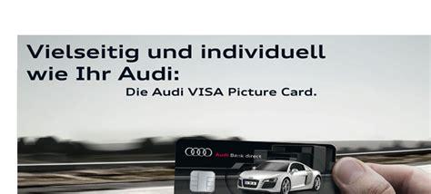 Audi Visa by Audi Bank Audi Visa Card Kreditkartebilliger De