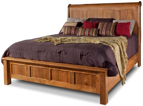 old brick bedroom sets daniel s amish lewiston king sleigh bed with low footboard