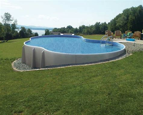 Backyard Above Ground Pool Radiant Semi Inground Pools