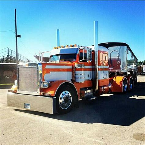 chicken lights and chrome custom peterbilt conventional with chicken lights and