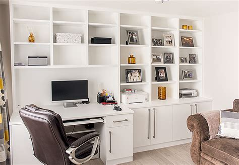 Built In Home Office Furniture Fitted Home Study Furniture