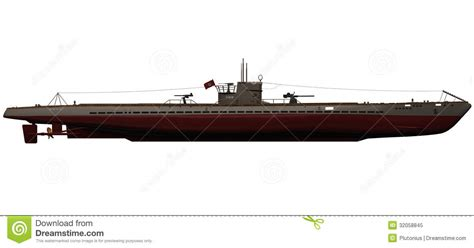 war boat clipart 3d rendering of a german ix b u boat stock illustration