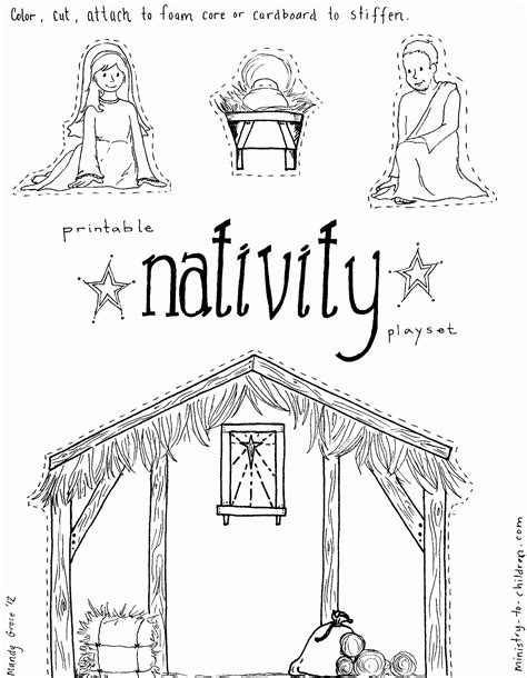 free nativity coloring pages free nativity coloring pages printable coloring home