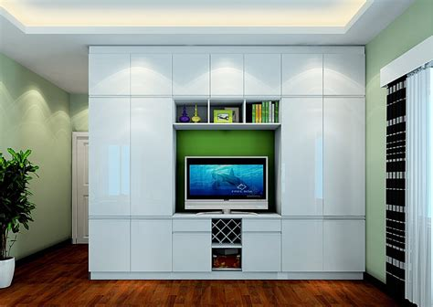 overlooking bedroom with wardrobe and tv cabinet combo