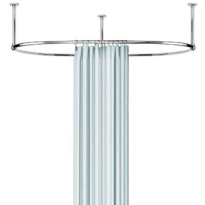 oval shaped shower curtain rod specialty shower rods archives clawfoot tubs and faucets