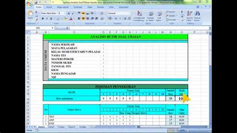 format analisis butir soal download aplikasi analisis soal pilihan ganda isian dan uraian