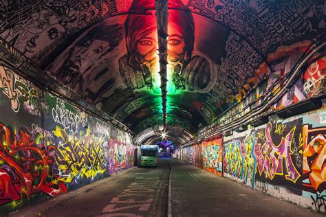 london graffiti and street london s famous graffiti tunnel is the star of local