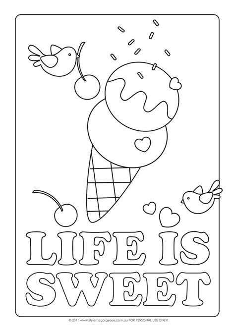 printable coloring pages ice cream ice cream coloring pages for kids free large images