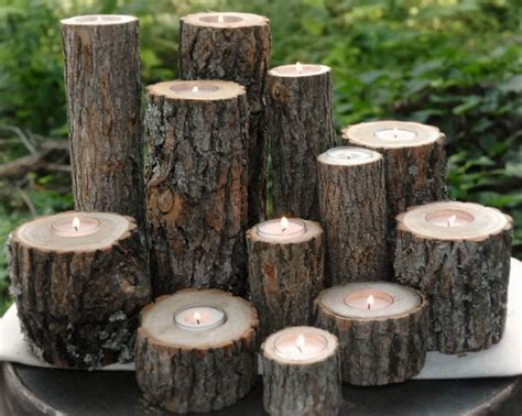 tree stump candle holder 2 creative ads and more