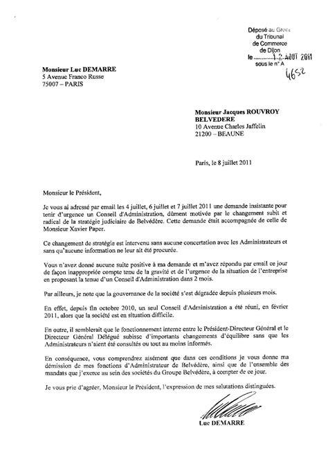 Exemple De Lettre Judiciaire exemple lettre de demission luxembourg