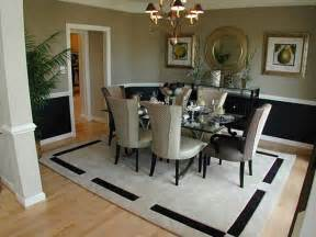 Black And White Upholstered Chair Design Ideas Dining Room Interior Ideas With Black And White Striped Pattern Rug Dining Table Set