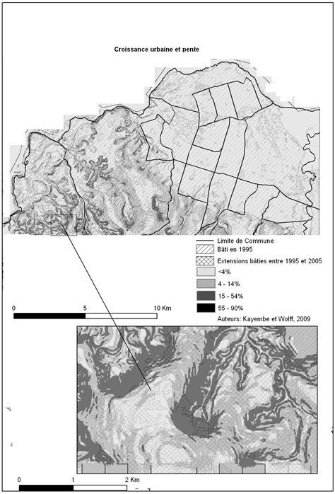 Cartographie de la croissance urbaine de Kinshasa (R.D
