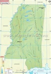 physical map of mississippi physical map of mississippi mississippi physical map