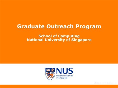 Nus Phd Mba Program by Nus Soc Graduate Outreach Tu Dresden