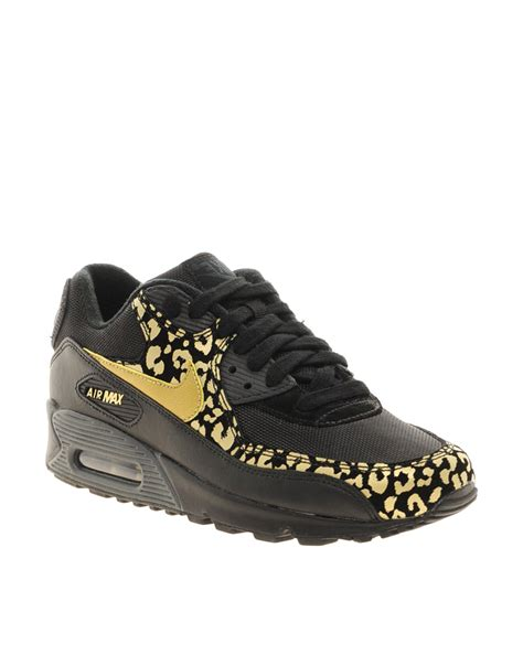 Flat Shoes Leopard Vnc Ori nike air max 90 08 gold leopard sneakers in black lyst