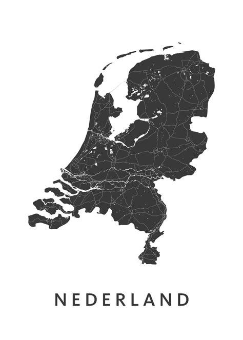 nederland white nederland country map