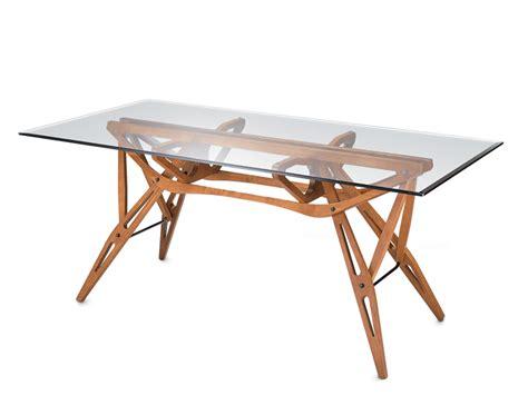 zanotta tavolo tavolo in cristallo reale by zanotta design carlo mollino
