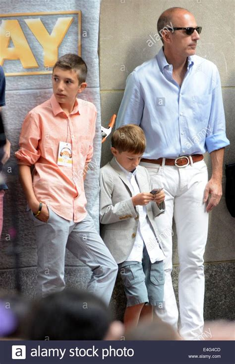 matt lauers son thijs lauer new york ny usa 10th july 2014 matt lauer sons jack