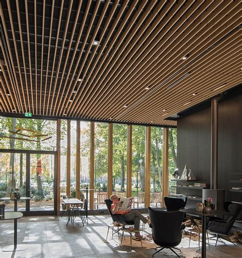 Wood Grid Ceiling by Wooden Ceiling