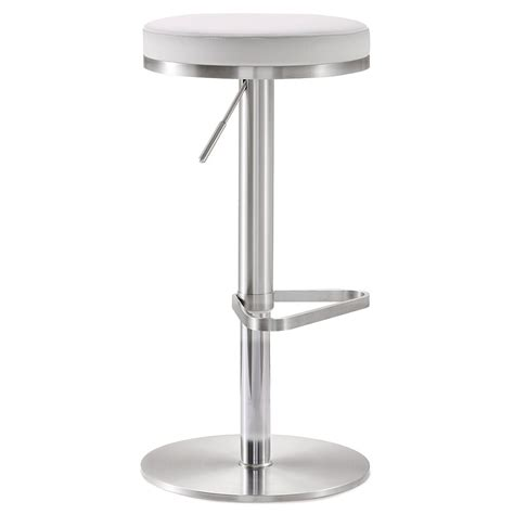 White Liquid In Stool by Modern Stools White Adjustable Stool Eurway