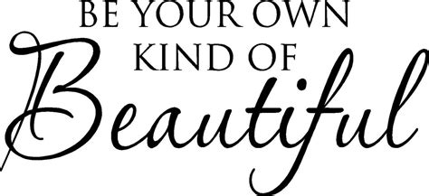 be your own kind of beautiful viny wall by madebytheresarenee