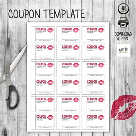 printable coupons in teal christmas birthday or