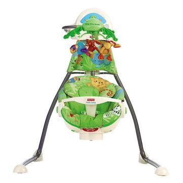 fisher price rainforest open top cradle swing recall укачивающий центр с мобилем колыбель качели 171 джунгли
