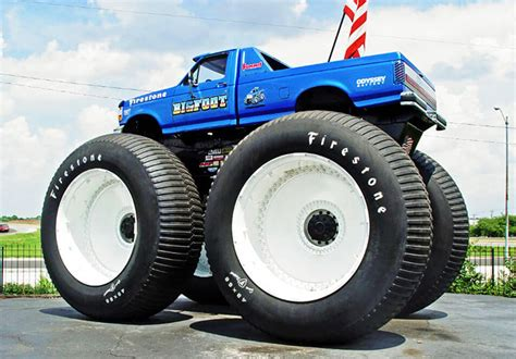 biggest bigfoot monster truck biggest monster truck in the world is rolling over cars