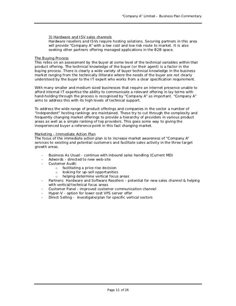 Cover Letter Writing Service Business Plan by Business Plan Sle Great Exle For Anyone Writing A