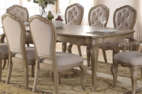 acme dining table acme chelmsford dining table in antique taupe 66050 by