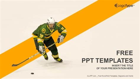 powerpoint templates free download hockey free sports powerpoint templates design