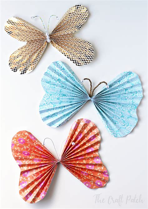 beaded butterfly craft the craft patch how to make beaded paper butterflies