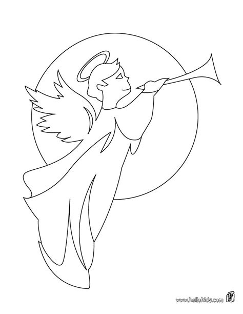 coloring page angel gabriel saint gabriel coloring pages hellokids com