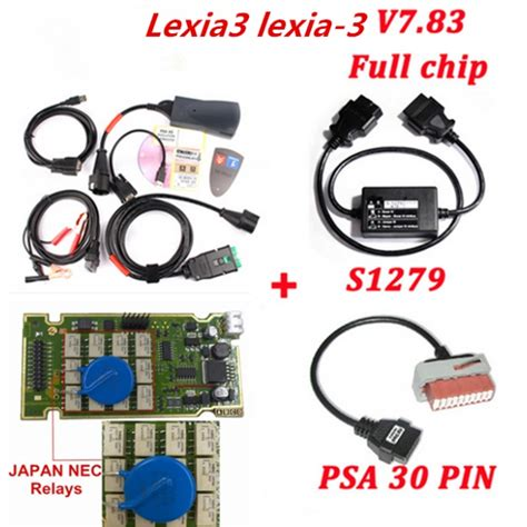 Lexia 3 Psa 30 Pin To 16 Pin Adapter Cable best buy lexia 3 pp2000 diagbox 7 83 chip psa 30 pin s1279 cable