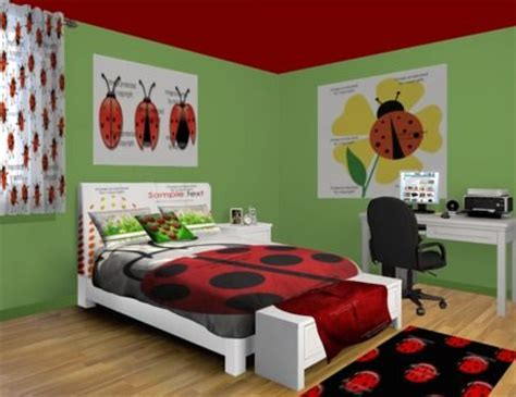 ladybug bedroom ladybug sprawl bedroom design at http www visionbedding