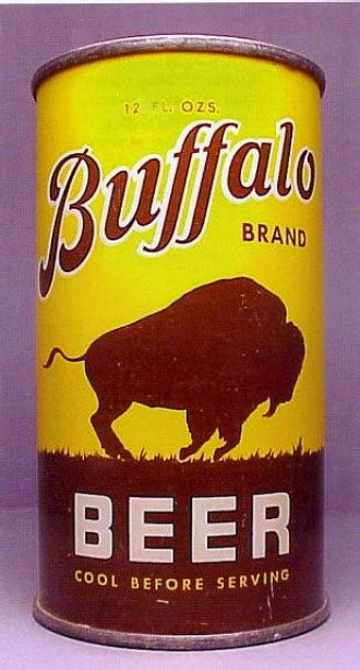 buffalo brand beer can from buffalo brewing co